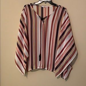 Striped Blouse with tassel